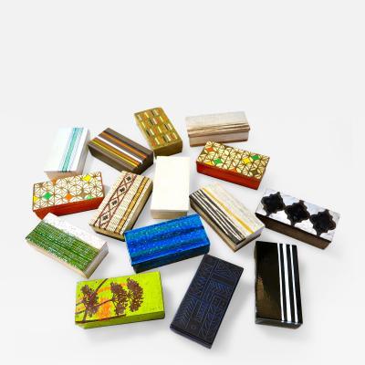 Aldo Londi Italian Collection of 14 Ceramic Boxes for Rosenthal Netter