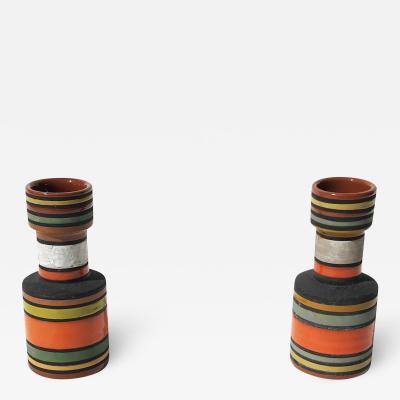 Aldo Londi Pair of Thailandia Vases by Aldo Londi for Bitossi