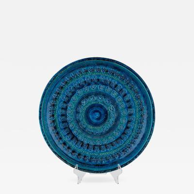 Aldo Londi Rimini Blu ceramic platter by Aldo Londi for Bitossi circa 1960s