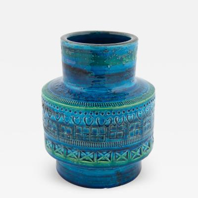 Aldo Londi Rimini Blu ceramic vase by Aldo Londi for Bitossi circa 1960s