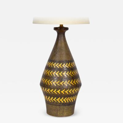 Aldo Londi Substantial Aldo Londi for Bitossi Arrowhead Ceramic Table Lamp C 1960