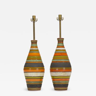 Aldo Londi Thailandia table lamps pair