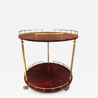 Aldo Tura Aldo Tura Goatskin Bar or Serving Cart