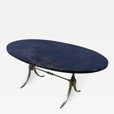 Aldo Tura Aldo Tura Lacquered Goatskin and Brass Surfboard Coffee Table Italy 1960s