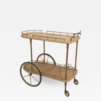 Aldo Tura Aldo Tura Parchment Bar Cart