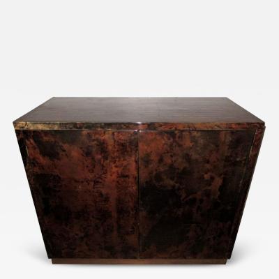 Aldo Tura Aldo Tura Parchment Two Door Bar or Cabinet