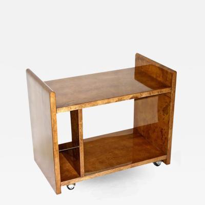 Aldo Tura Aldo Tura Rare Amber Goatskin Cart or Side Table