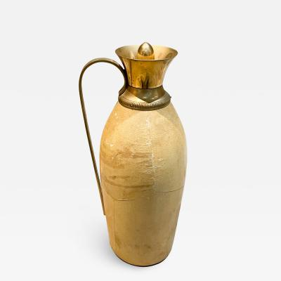 Aldo Tura Aldo Tura for Macabo CARAFE Pitcher Lacquered Goatskin and Brass 1940s ITALY