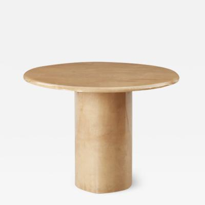Aldo Tura Aldo Tura lacquered goatskin oval table Italy c1960