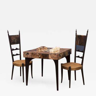 Aldo Tura Alo Tura Games Table and Chairs Italy