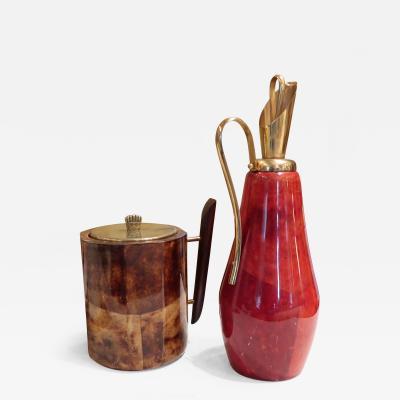 Aldo Tura An Ice Bucket and Jug by Aldo Tura Italy 1950