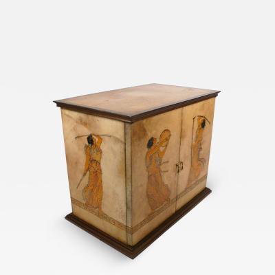 Aldo Tura Goatskin Cabinet