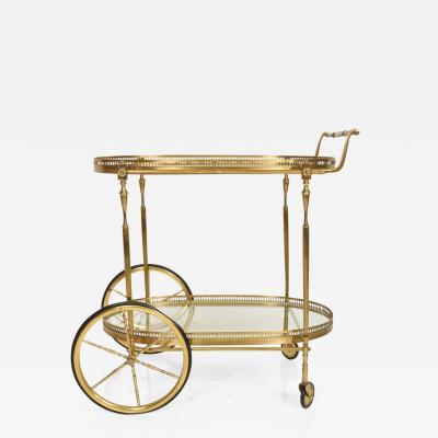 Aldo Tura Hollywood Regency Italian Service Cart Aldo Tura