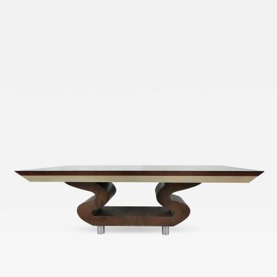 Aldo Tura Lacquered Goatskin Dining Table in the Manner of Aldo Tura