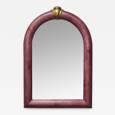Aldo Tura Rare goatskin Mirror attributed to Aldo Tura