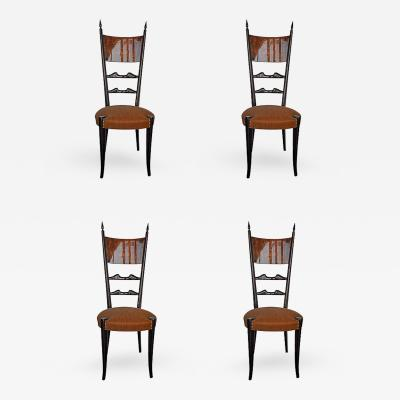 Aldo Tura Set of Four Aldo Tura Side Chairs