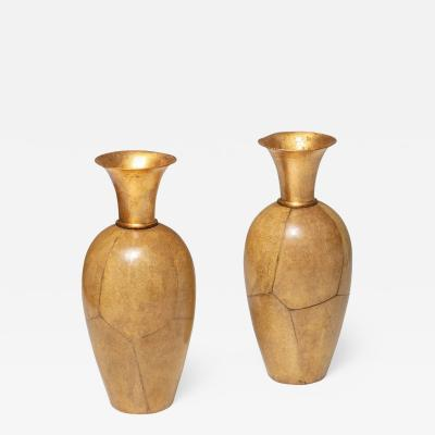 Aldo Tura Set of Two Vases by Aldo Tura for Macabo