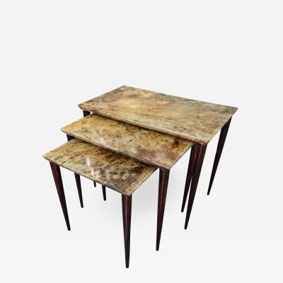 Aldo Tura Three Occasional Tables by Aldo Tura Italy 50