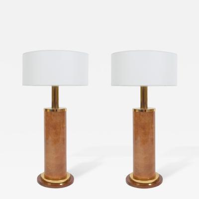 Aldo Tura Wonderful Pair of Large Aldo Tura Table Lamps