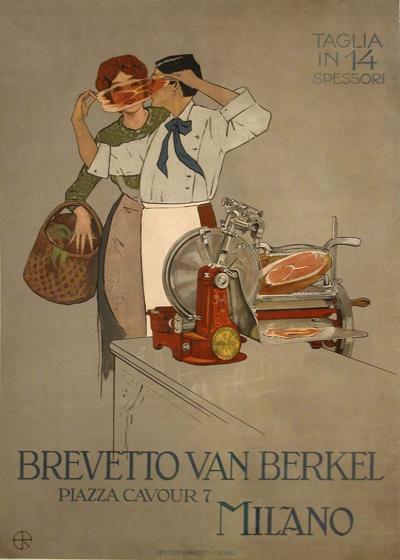 Aleardo Terzi Italian Art Nouveau Period Poster by Aleardo Terzi 1905
