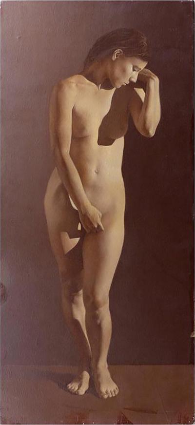 Alehandro Rosemberg Contemporary Female Nude Oil Painting by Argentine Artist Alejandro Rosemberg