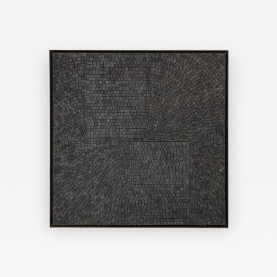 Aleksandra Kasuba Aleksandra Kasuba Abstract Black Marble Pebble Mosaic Signed USA 1960s
