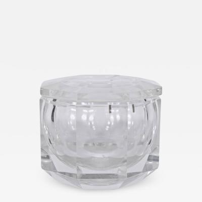 Alessandro Albrizzi Alessandro Albrizzi Faceted Lucite Ice Bucket circa 1970
