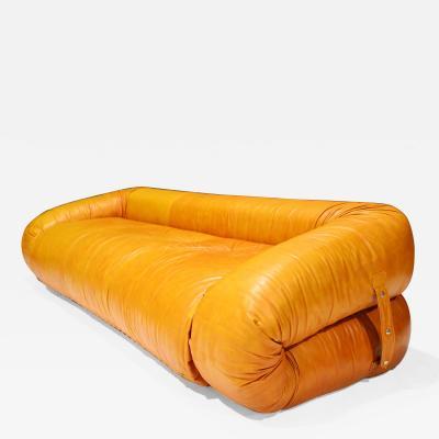 Alessandro Becchi Leather Anfibio Sofa Bed by Alessandro Becchi for Giovannetti Collezioni 1970s
