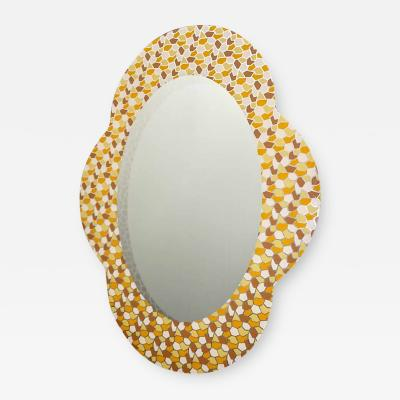 Alessandro Mendini 2000 Alessandro Mendini for Glas Italia Postmodern Orange Yellow Brown Mirror