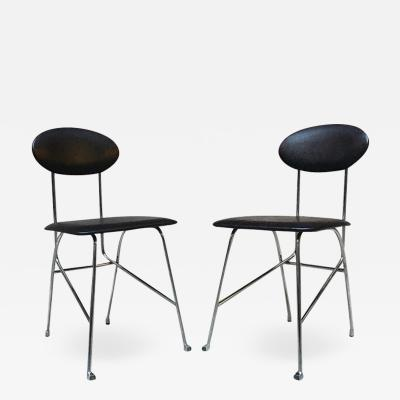 Alessandro Mendini Leather chairs by Mendini for Zabro 1980s