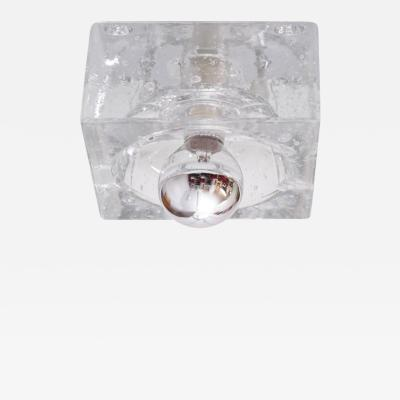 Alessandro Mendini One of Six Glass Cube Bubble Flush Mounts in the Manner of Alessandro Mendini
