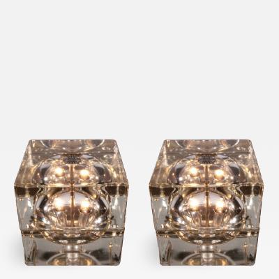 Alessandro Mendini Pair Cubosfera Table Lamps by Alessandro Mendini