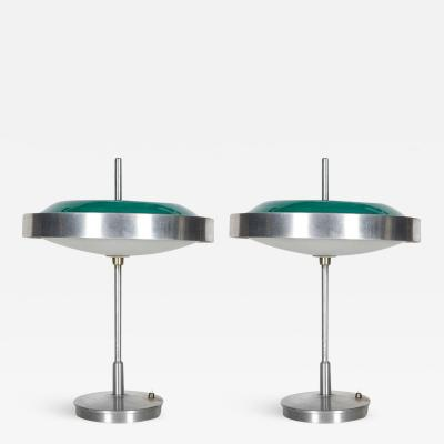 Alessandro Mendini Pair of 1960s italian lamps