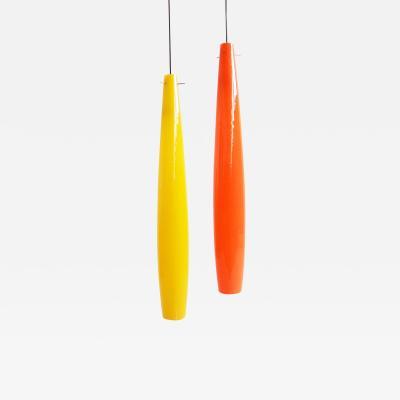Alessandro Pianon 2 Glass Pendant Lamps by Alessandro Pianon for Vistosi