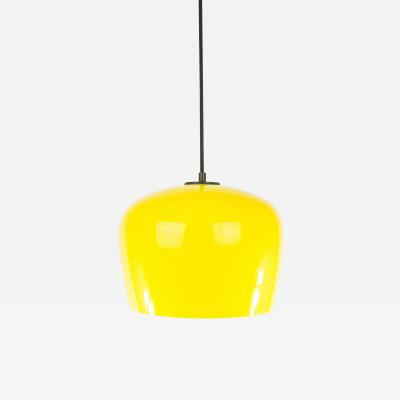 Alessandro Pianon Yellow Glass pendant by Alessandro Pianon for Vistosi 1960s