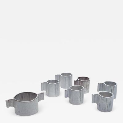 Alessio Tasca Alessio Tasca Ceramic Demitasse Cups and Sugar Bowl