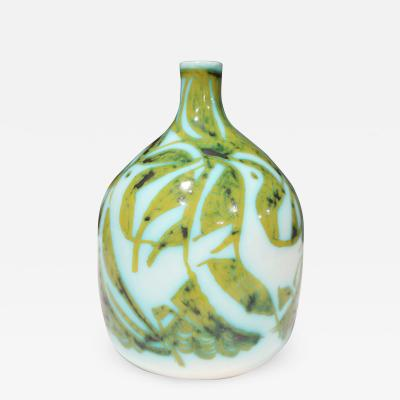 Alessio Tasca Alessio Tasca for Raymor Vase Ceramic Green and White Signed