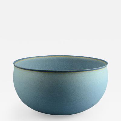 Alev Eb zziya Siesbye Alev Siesbye Very Large Bowl with Pale Blue Matte Glaze 1983