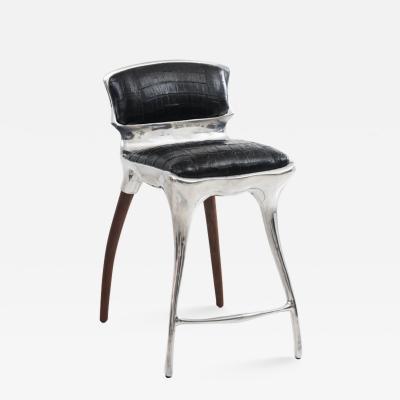 Alex Roskin Alex Roskin High Chair Bar Stool in Aluminum USA