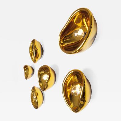 Alex de Witte Aurum Gold Glass Sconces Alex de Witte
