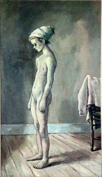 Alexander Brook Large Oil on Canvas by Alexander Brook 1955