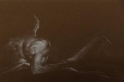 Alexander Ca edo Dramatic Male Nude Drawing by Alejandro De Ca edo