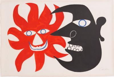 Alexander Calder Alexander Calder Lithograph Deux Tetes