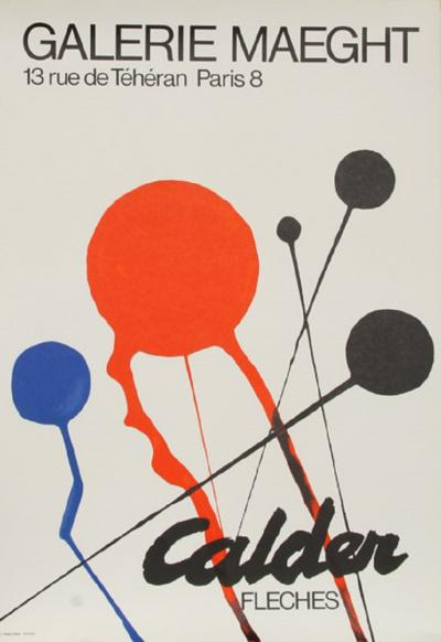 Alexander Calder Calder Exhibition at Galerie Maeght Fleches
