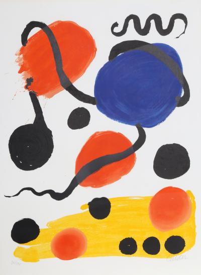Alexander Calder Composition in Red Blue and Yellow