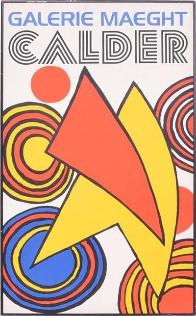 Alexander Calder Galery Maeght Calder Poster Printed in France