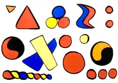 Alexander Calder Original Lithograph Composition aux formes G om triques by Alexander Calder