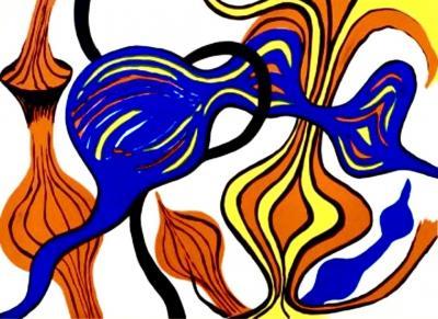 Alexander Calder Original Lithograph Les Oignons by Alexander Calder