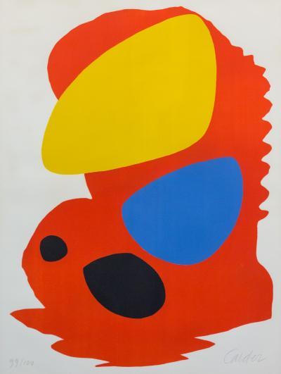 Alexander Calder Untitled LACMA Poster by Alexander Calder 1965 Color Lithograph on Paper