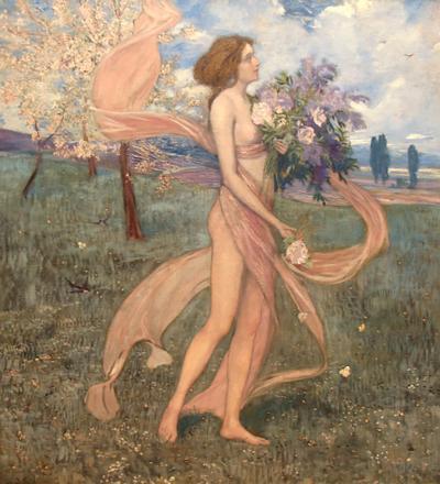 Alexander Demetrius Goltz An Art Nouveau Painting by Alexander Goltz Fruhling
